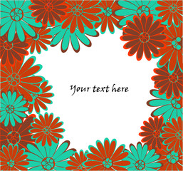 vector backgrond with flowers