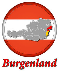 3D-Button Republik Österreich - Burgenland