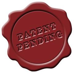 Wachssiegel rot patent pending