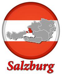 3D-Button Republik Österreich - Salzburg