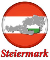 3D-Button Republik Österreich - Steiermark