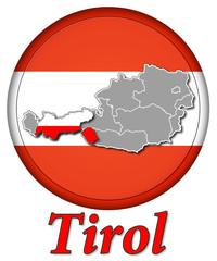 3D-Button Republik Österreich - Tirol