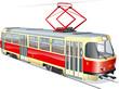 Vector urban tram - 18490841