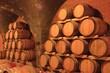 Weinkeller Barriqe Holzfässer Kellergewölbe Steinkeller