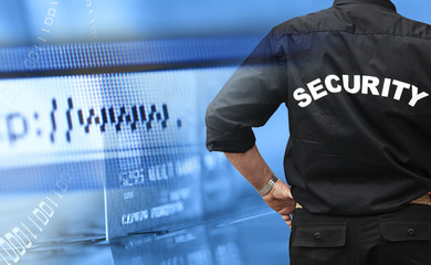 Online shopping security concept