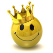happy smiley with crown
