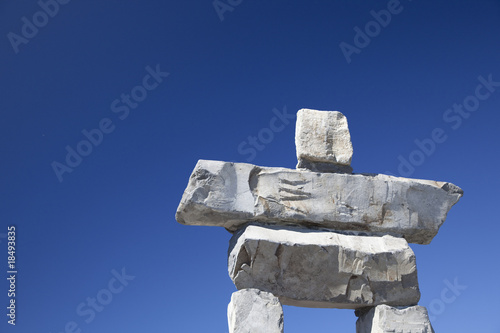 Inukshuk and Blue Sky