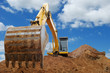 Excavator Loader bulldozer with big bucket