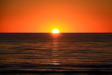 Setting Sun over Larg's Bay Beach, Adelaide, Australia