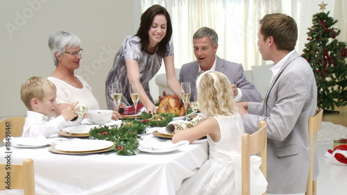 Homely Christmas Dinner with all the family