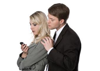 Paar mit Handy