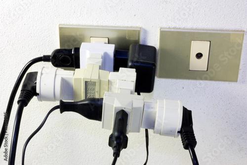 Leinwanddruck Bild bad electrical connection