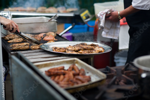 food on a barbecue - 18502820