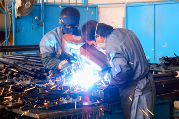 welders in workshop