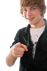 Mit den Finger zeigen
