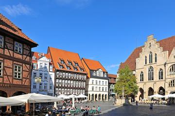 Hildesheim, Marktplatz mit berühmten Häusern