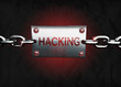 3D hacking message sign