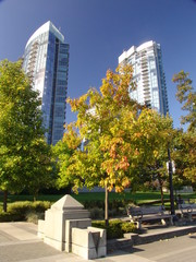 City Innenstadt Vancouver Indian Summer