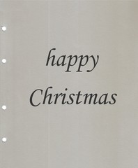 Happy Christmas on sheet ring
