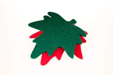 Hojas de navidad verde y roja