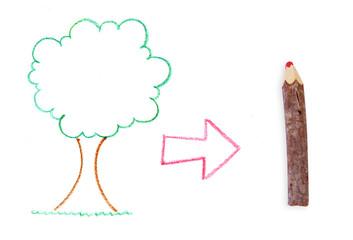 Árvore vira Lápis
