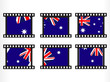 set of stamp with autralia flag