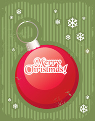 Christmas minimal simple postcard