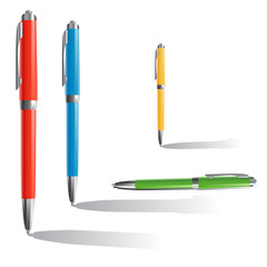 3 pens and one pen