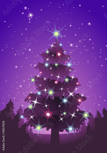 Sapin de Noël rose violet