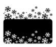 white vector  snowflakes