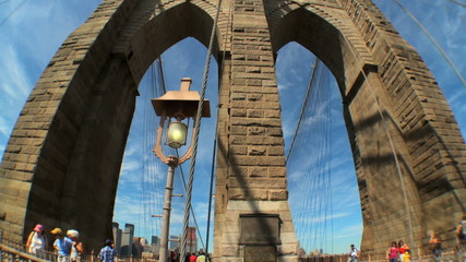 Brooklyn Bridge USA (with Fish-eye)