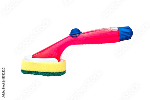 Kitchen Scouring Pad and Soap Dispensing Wand