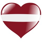 Latvia in heart poster