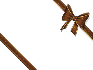 Chocolate ribbon and bow