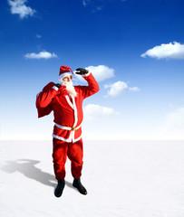 Weihnachtsmann am Nordpol