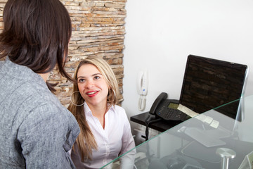 business women at the office