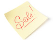 Sale handwritten message