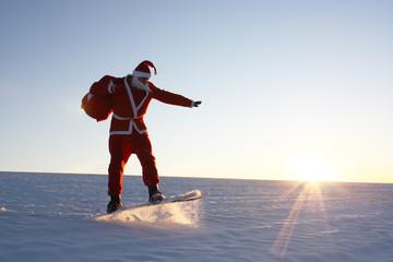 Sportlicher Weihnachtsmann