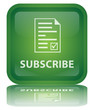 """Subscribe"" Button (square - green - vector - reflection)"