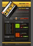 Music related brochure / web template poster