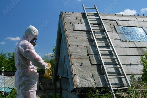 Leinwandbild Motiv Asbestos disposal