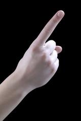 gestures, one