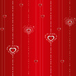 seamless valentine background with hearts