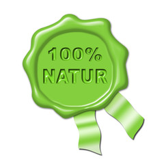 Natur grün siegel button