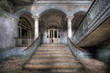 Leinwanddruck Bild - Old stairs in Beelitz