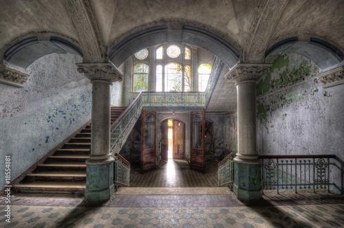 Leinwanddruck Bild Beelitzer Säulengewölbe