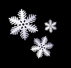 Freigestellt Schneeflocken