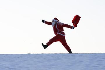 Weihnachtsmann mit einem Sack voller Geschenke