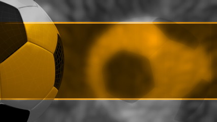 Orange and White Template Style Soccer Background