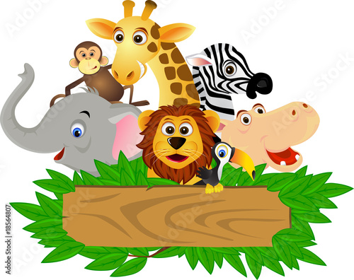 Fotobehang Zoo Animal cartoon